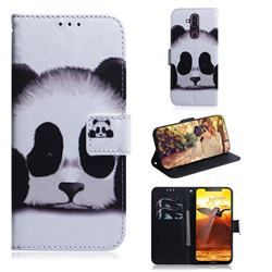 Sleeping Panda PU Leather Wallet Case for Nokia 8.1 (Nokia X7)