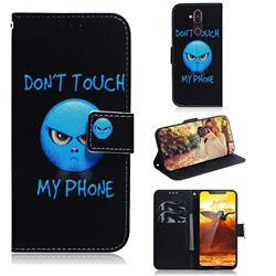 Not Touch My Phone PU Leather Wallet Case for Nokia 8.1 (Nokia X7)