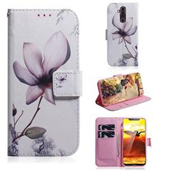 Magnolia Flower PU Leather Wallet Case for Nokia 8.1 (Nokia X7)