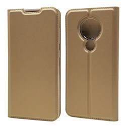 Ultra Slim Card Magnetic Automatic Suction Leather Wallet Case for Nokia 7.2 - Champagne