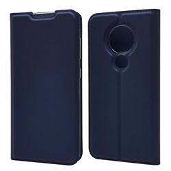 Ultra Slim Card Magnetic Automatic Suction Leather Wallet Case for Nokia 7.2 - Royal Blue