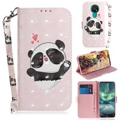 Heart Cat 3D Painted Leather Wallet Phone Case for Nokia 7.2