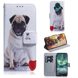 Pug Dog PU Leather Wallet Case for Nokia 7.2