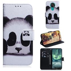 Sleeping Panda PU Leather Wallet Case for Nokia 7.2