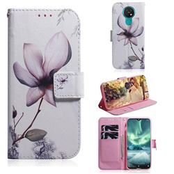 Magnolia Flower PU Leather Wallet Case for Nokia 7.2
