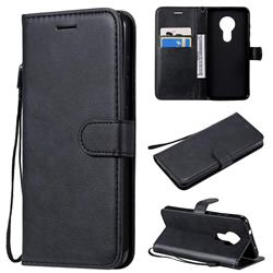 Retro Greek Classic Smooth PU Leather Wallet Phone Case for Nokia 7.2 - Black