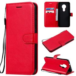 Retro Greek Classic Smooth PU Leather Wallet Phone Case for Nokia 7.2 - Red