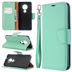 Classic Luxury Litchi Leather Phone Wallet Case for Nokia 7.2 - Green