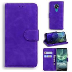 Retro Classic Skin Feel Leather Wallet Phone Case for Nokia 7.2 - Purple