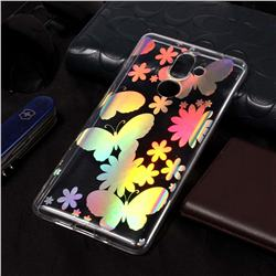Pansy Pattern Bright Color Laser Soft TPU Case for Nokia 7 Plus