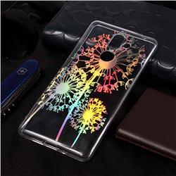 Dandelion Pattern Bright Color Laser Soft TPU Case for Nokia 7 Plus