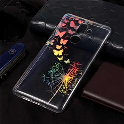 Dandelion Butterfly Pattern Bright Color Laser Soft TPU Case for Nokia 7 Plus