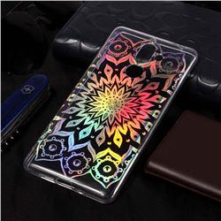 Sun Flower Pattern Bright Color Laser Soft TPU Case for Nokia 7 Plus