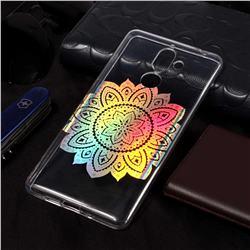 Lotus Pattern Bright Color Laser Soft TPU Case for Nokia 7 Plus