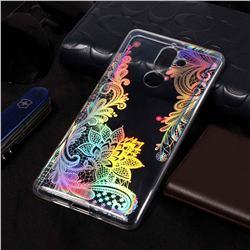 Black Rose Flower Pattern Bright Color Laser Soft TPU Case for Nokia 7 Plus