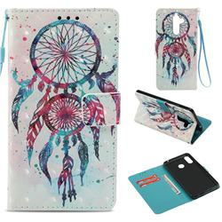 ColorDrops Wind Chimes 3D Painted Leather Wallet Case for Nokia 7 Plus