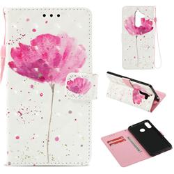 Watercolor 3D Painted Leather Wallet Case for Nokia 7 Plus