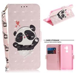 Heart Cat 3D Painted Leather Wallet Phone Case for Nokia 7 Plus