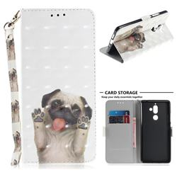 Pug Dog 3D Painted Leather Wallet Phone Case for Nokia 7 Plus