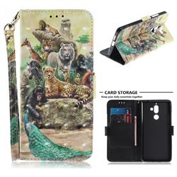 Beast Zoo 3D Painted Leather Wallet Phone Case for Nokia 7 Plus