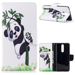 Bamboo Panda Leather Wallet Case for Nokia 8
