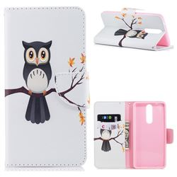 Owl on Tree Leather Wallet Case for Nokia 8