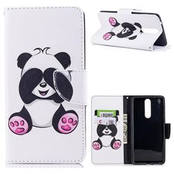 Lovely Panda Leather Wallet Case for Nokia 8