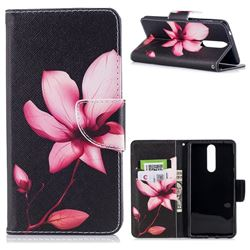 Lotus Flower Leather Wallet Case for Nokia 8