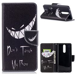 Crooked Grin Leather Wallet Case for Nokia 8