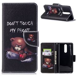 Chainsaw Bear Leather Wallet Case for Nokia 8