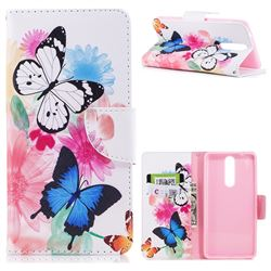 Vivid Flying Butterflies Leather Wallet Case for Nokia 8