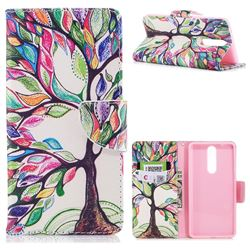 The Tree of Life Leather Wallet Case for Nokia 8