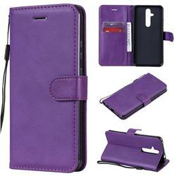 Retro Greek Classic Smooth PU Leather Wallet Phone Case for Nokia 8.1 Plus (Nokia X71) - Purple