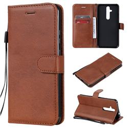 Retro Greek Classic Smooth PU Leather Wallet Phone Case for Nokia 8.1 Plus (Nokia X71) - Brown