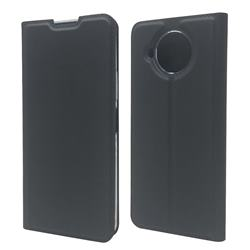 Ultra Slim Card Magnetic Automatic Suction Leather Wallet Case for Nokia 8.3 - Star Grey