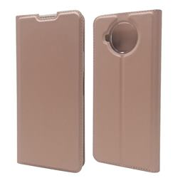 Ultra Slim Card Magnetic Automatic Suction Leather Wallet Case for Nokia 8.3 - Rose Gold