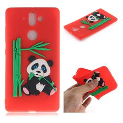 Panda Eating Bamboo Soft 3D Silicone Case for Nokia 9 - Red