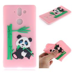 Panda Eating Bamboo Soft 3D Silicone Case for Nokia 9 - Pink