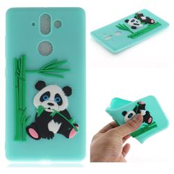 Panda Eating Bamboo Soft 3D Silicone Case for Nokia 9 - Green