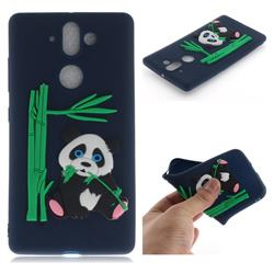 Panda Eating Bamboo Soft 3D Silicone Case for Nokia 9 - Dark Blue