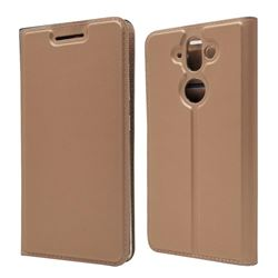 Ultra Slim Card Magnetic Automatic Suction Leather Wallet Case for Nokia 9 - Rose Gold