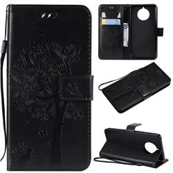 Embossing Butterfly Tree Leather Wallet Case for Nokia 9 PureView - Black