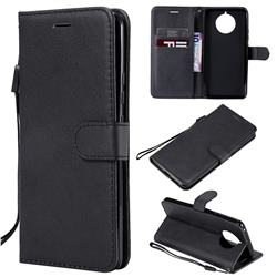 Retro Greek Classic Smooth PU Leather Wallet Phone Case for Nokia 9 PureView - Black