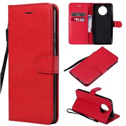 Retro Greek Classic Smooth PU Leather Wallet Phone Case for Nokia 9 PureView - Red