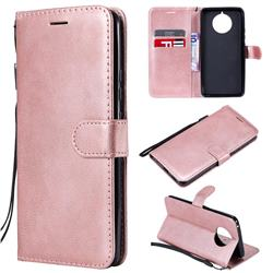 Retro Greek Classic Smooth PU Leather Wallet Phone Case for Nokia 9 PureView - Rose Gold
