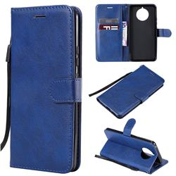 Retro Greek Classic Smooth PU Leather Wallet Phone Case for Nokia 9 PureView - Blue