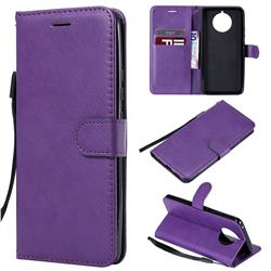 Retro Greek Classic Smooth PU Leather Wallet Phone Case for Nokia 9 PureView - Purple