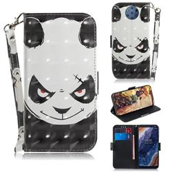 Angry Bear 3D Painted Leather Wallet Phone Case for Nokia 9 PureView