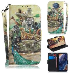 Beast Zoo 3D Painted Leather Wallet Phone Case for Nokia 9 PureView