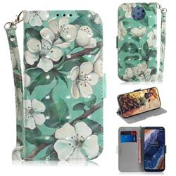 Watercolor Flower 3D Painted Leather Wallet Phone Case for Nokia 9 PureView
